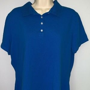 Riders Lee Polo Shirt Blue For Women Size XL